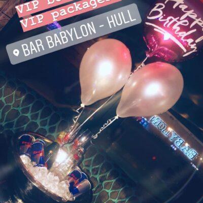 VIP Booths at Bar Babylon, Hull